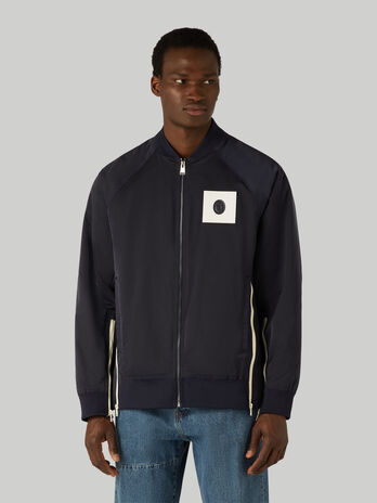 Bomber jacket in tecno satin