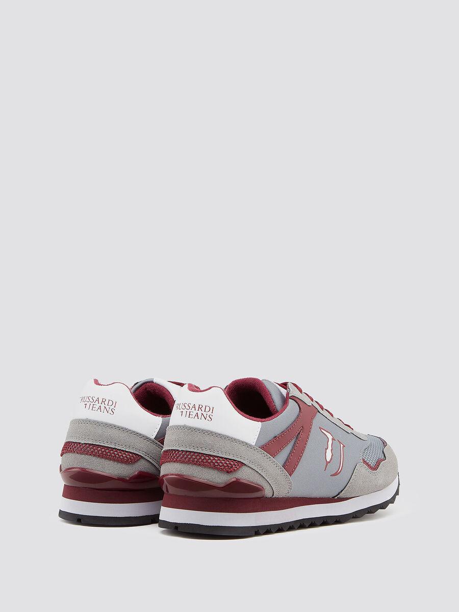 Sneakers running inserti scamosciati