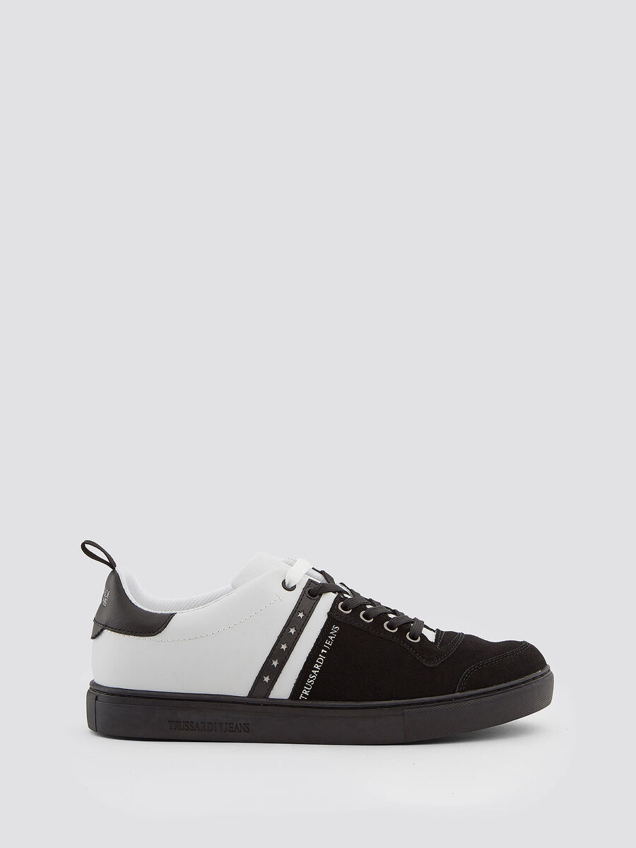Leather sneakers with star details