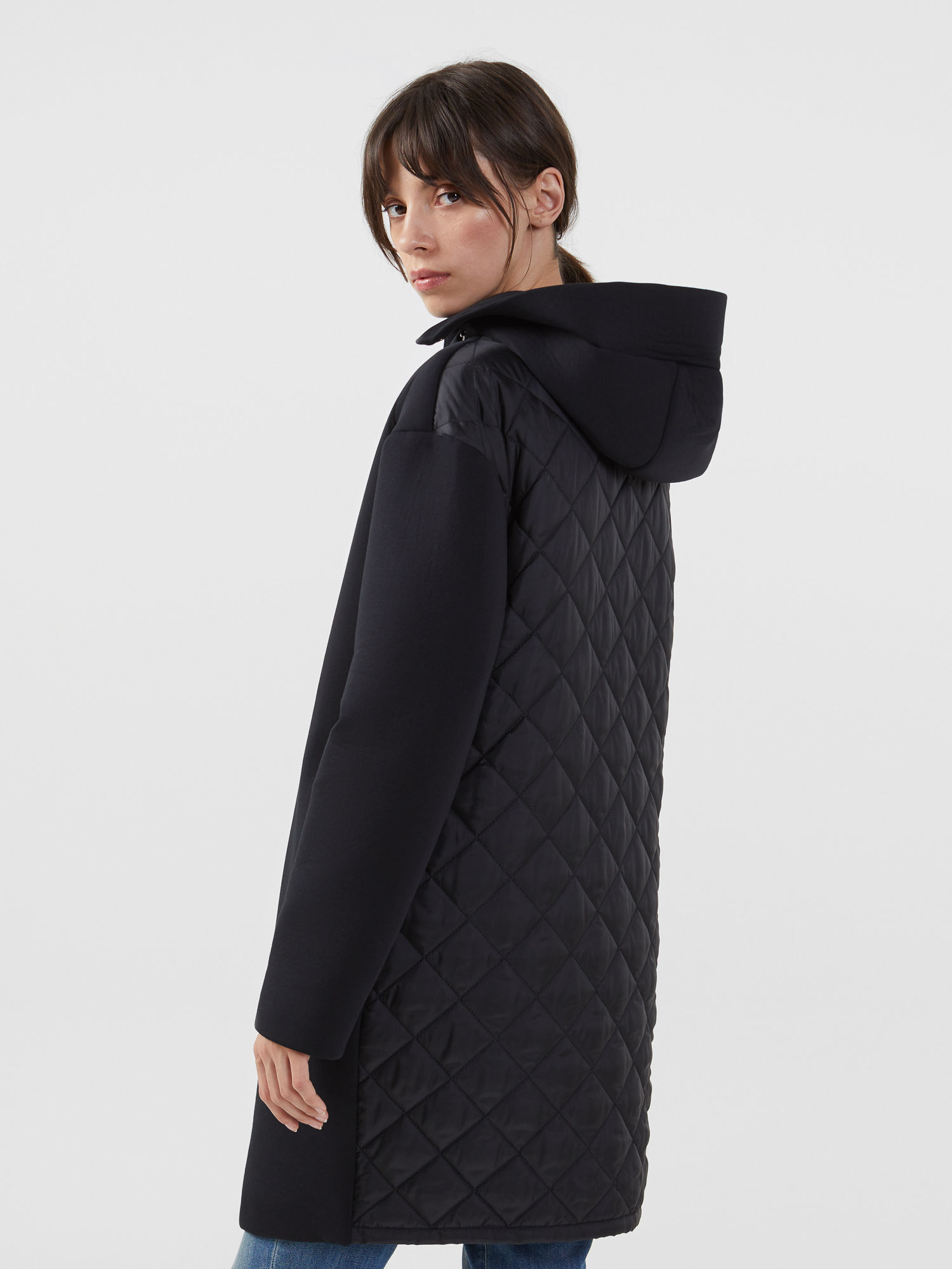 Cappotto in neoprene e nylon