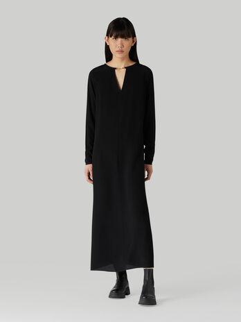 Long light crepe dress