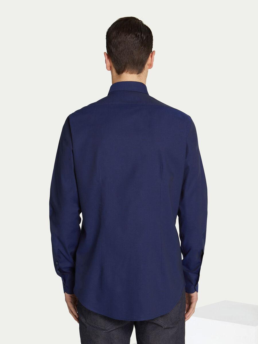 Camicia regular fit in cotone tinta unita