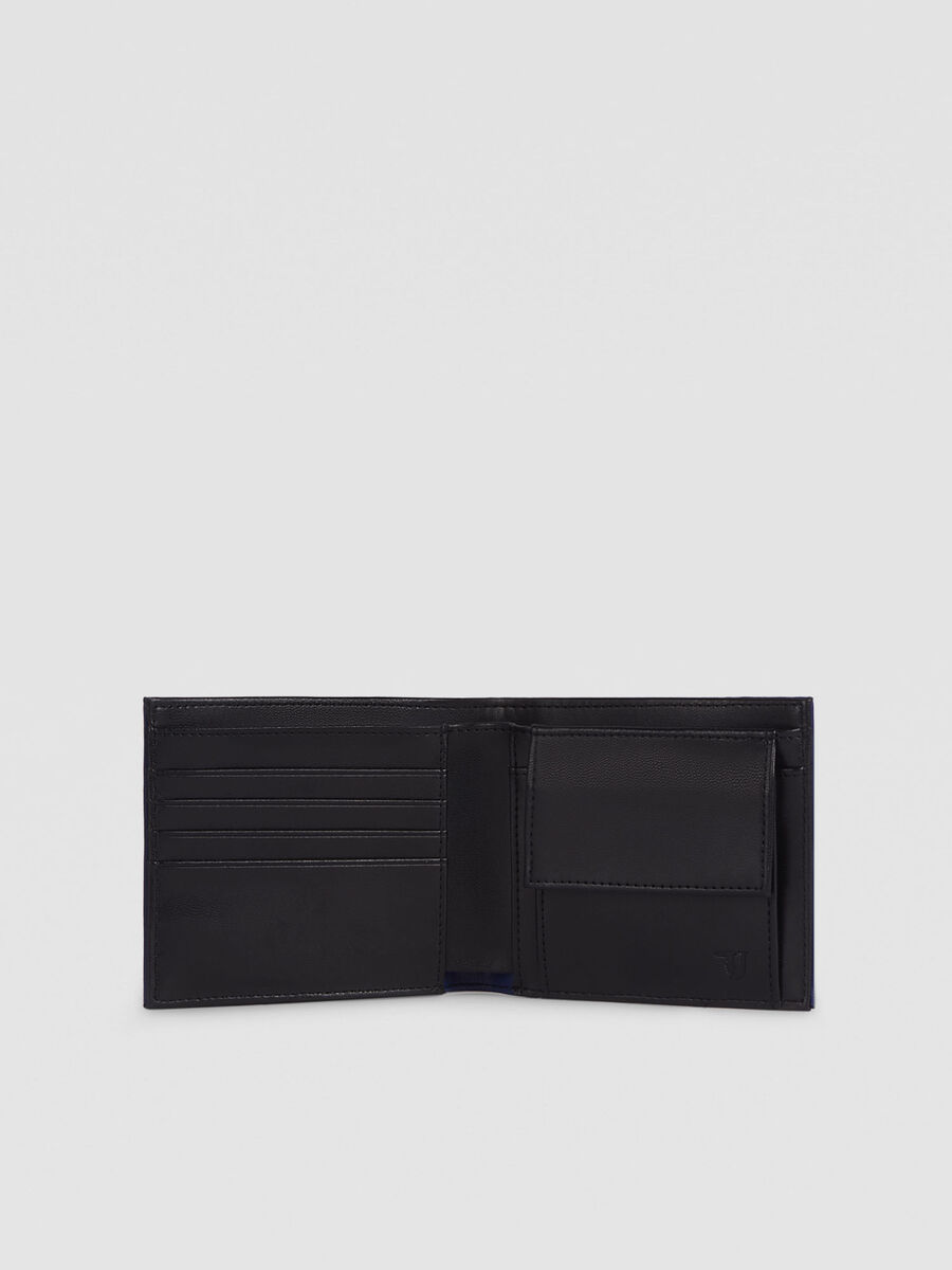 Faux leather Essential Business wallet with flap