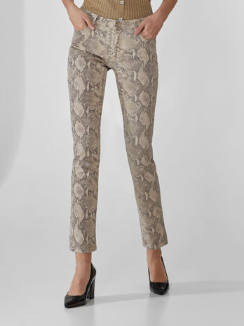 Pantalon 260 regular con estampado piton