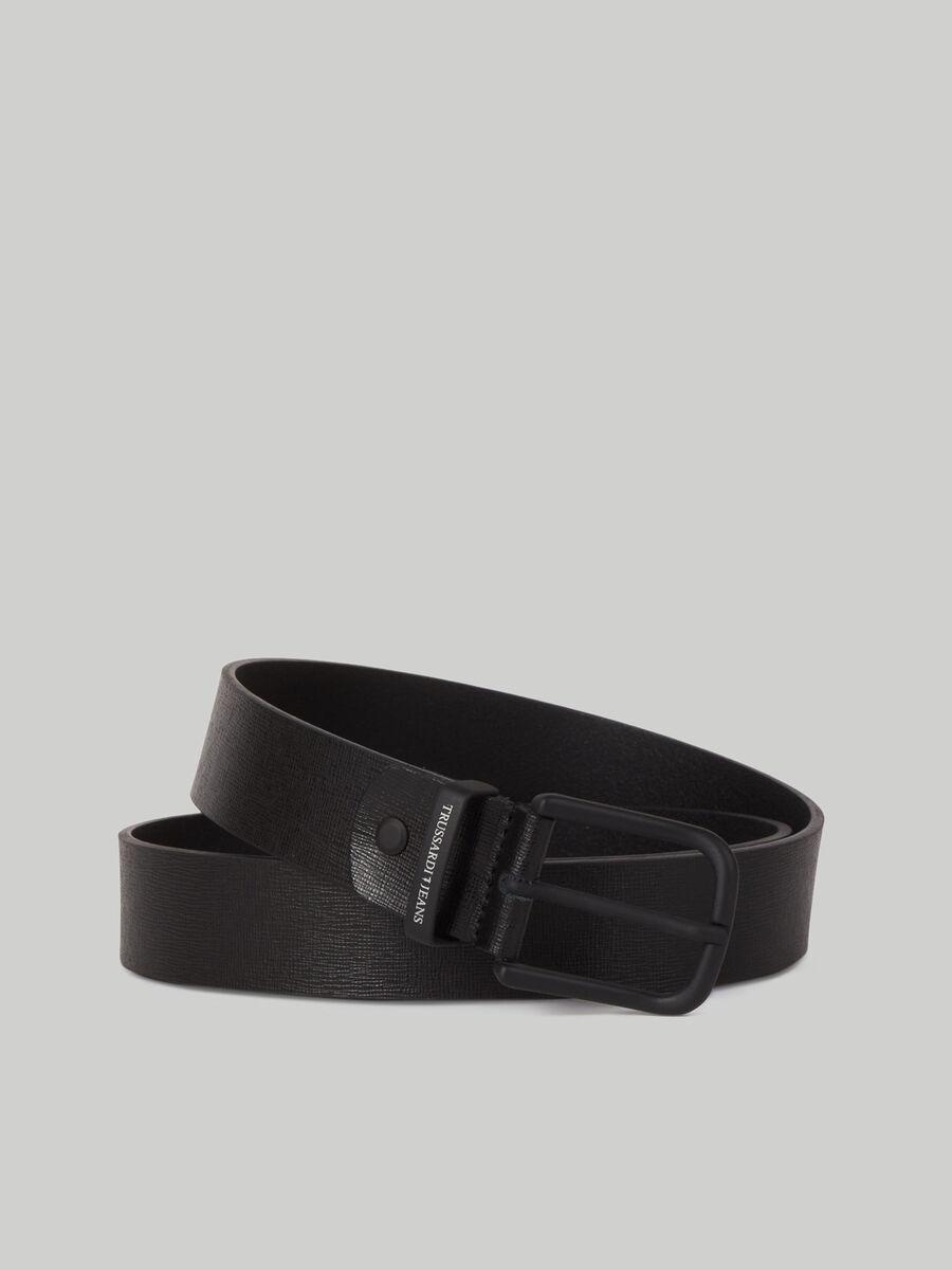 Textured leather Business Affair belt