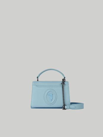 Small Dahlia crossbody bag in faux saffiano leather
