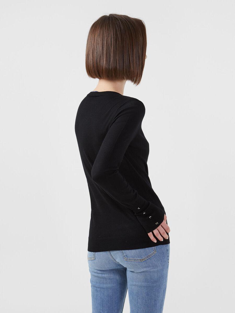 Regular fit stretch viscose top