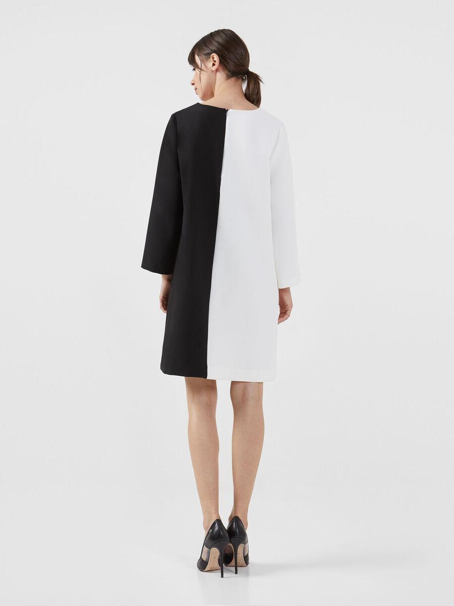 Colour block technical cady dress