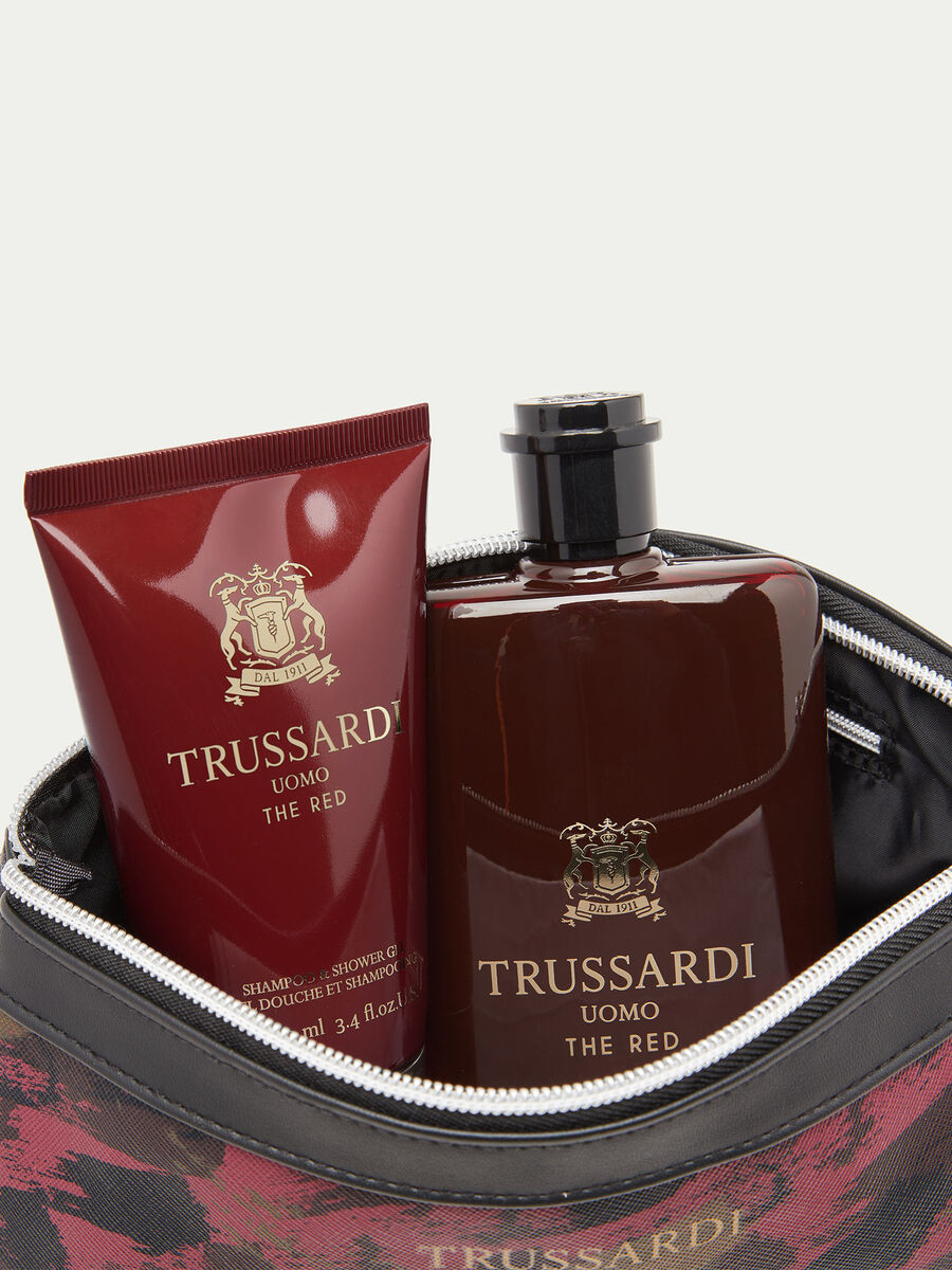 Cofanetto Trussardi Uomo The Red profumo bagno e beauty