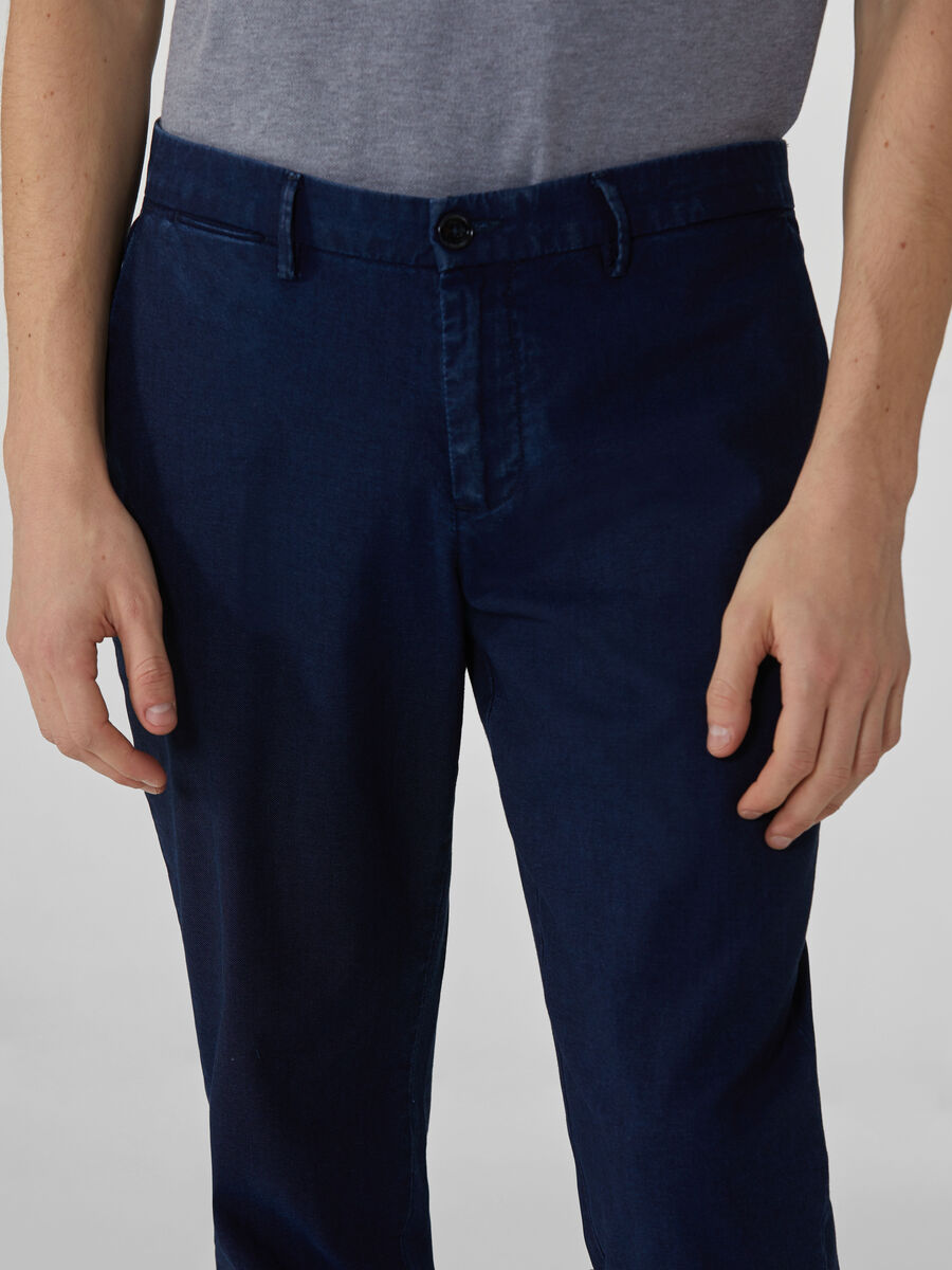 Pantalon coupe aviateur en toile denim