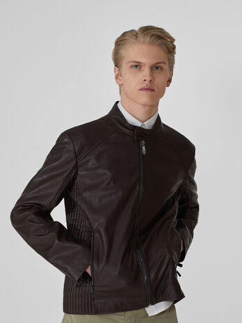 Biker jacket in similpelle
