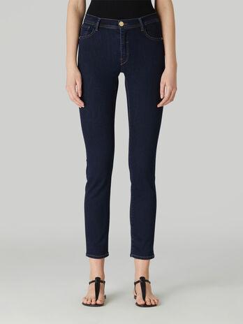 Cotton denim skinny 105 jeans