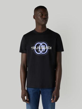 T-shirt en jersey de coton a logo