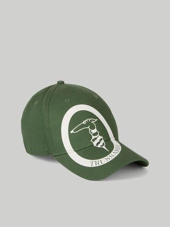 Cotton baseball cap with monogram logo
