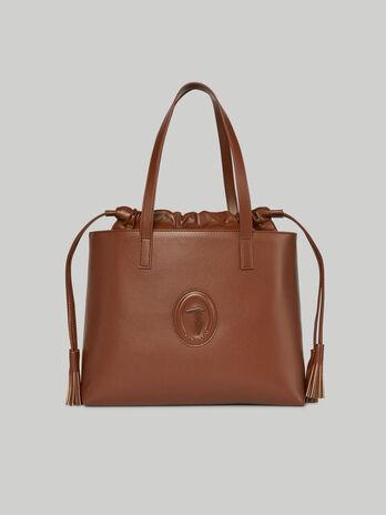 Medium faux leather Jolie shopper