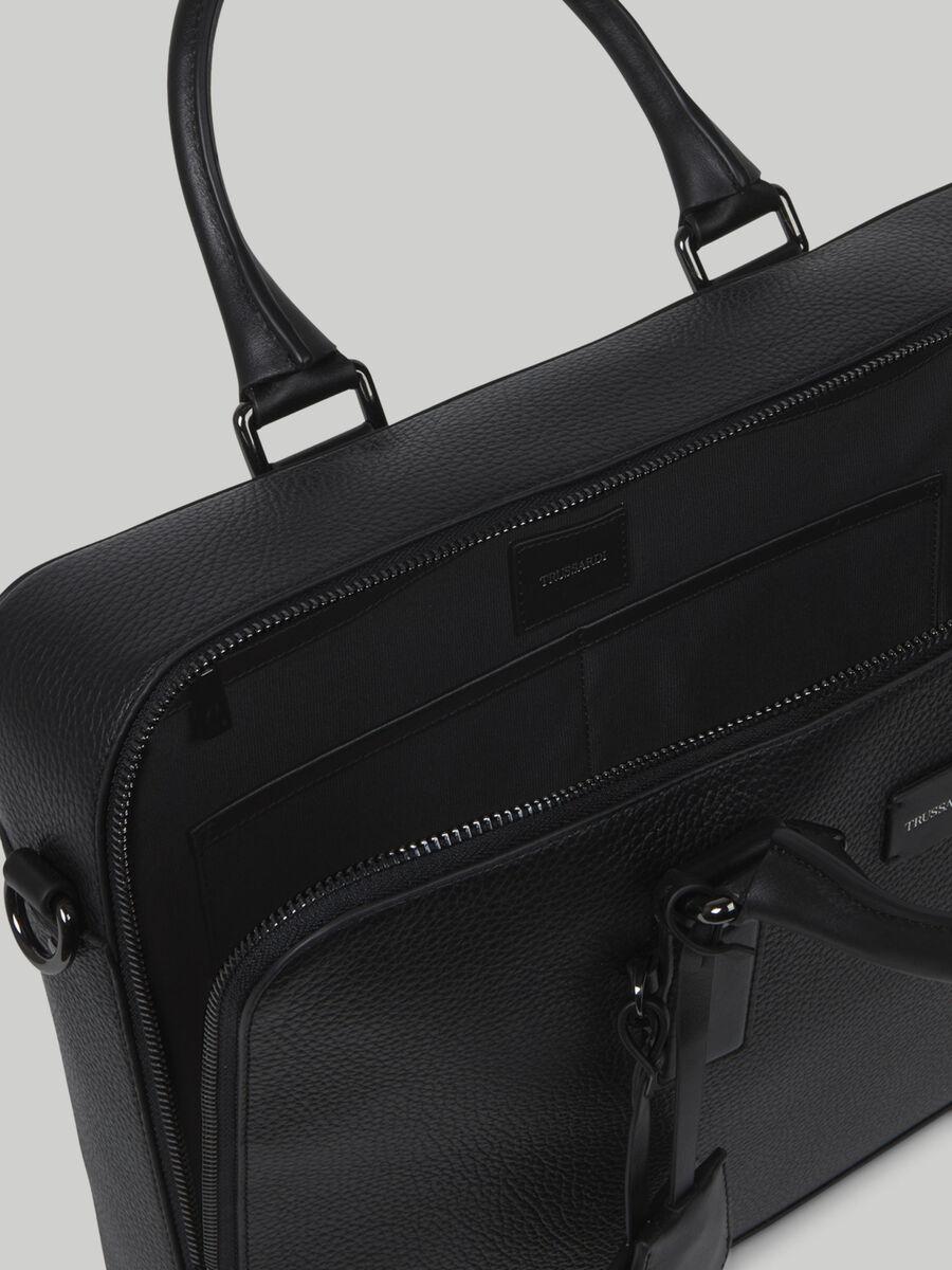 Medium hammered leather Business briefcase
