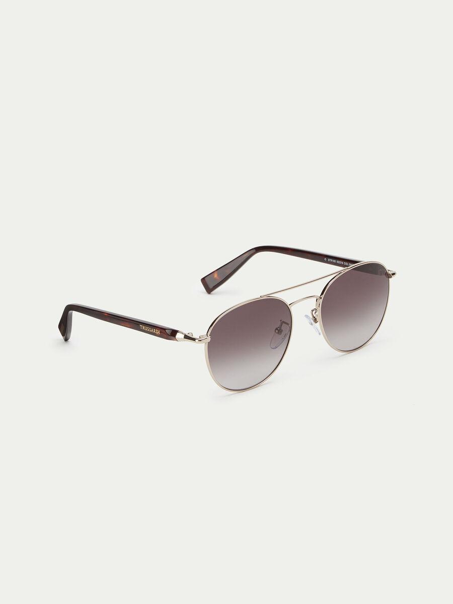 Sonnenbrille mit Buegeln in Schildkroetenoptik