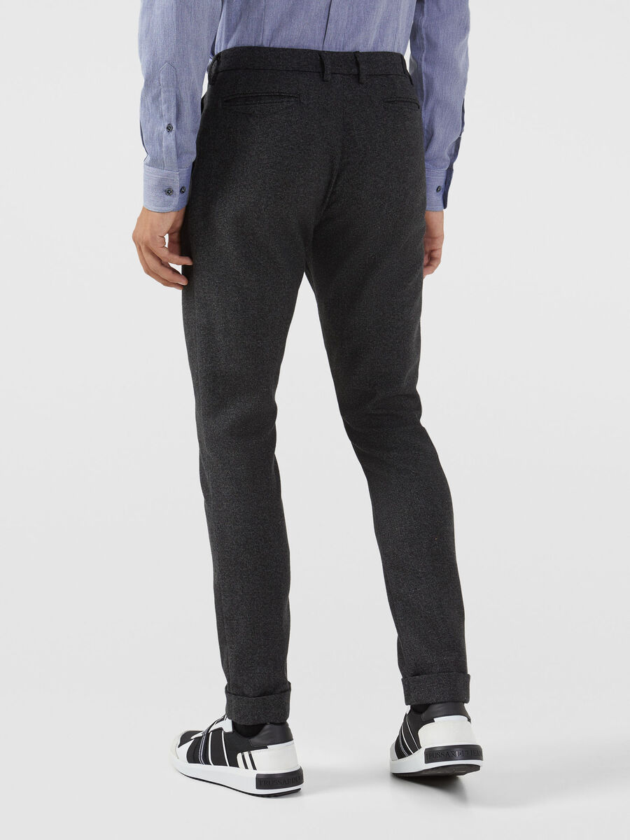Wool blend mouline Clubmaster trousers