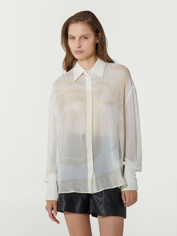 Oversized printed georgette shirt