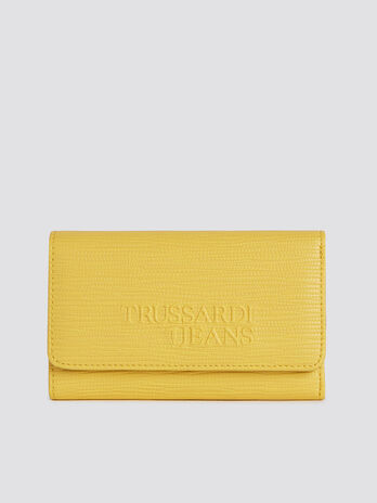 Large Melly bifold purse in saffiano faux leather