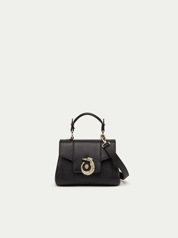 Mini Lovy Icon bag solid colour leather with Levriero d9a50984b