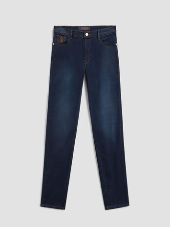 Vaqueros 105 skinny de denim satin