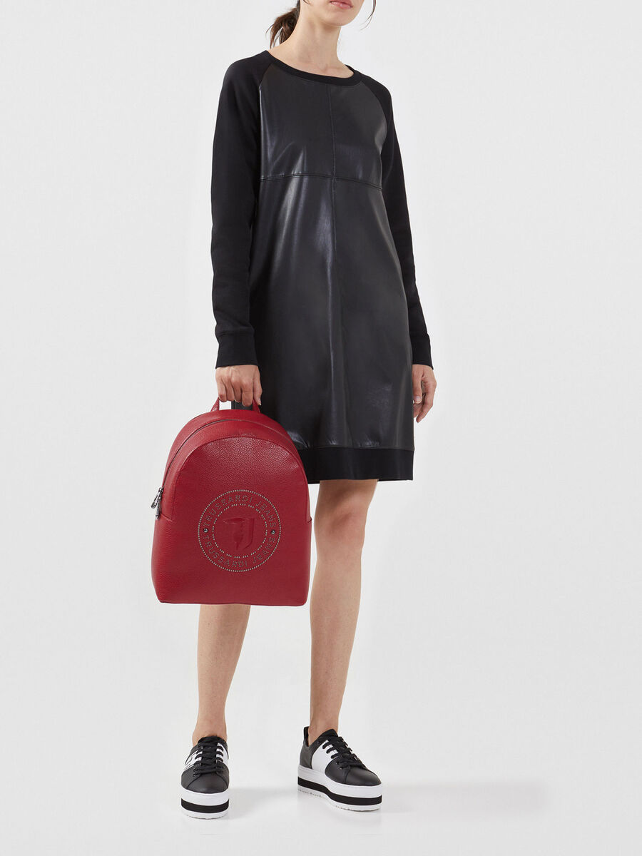 Zaino Harper medium in similpelle con borchie