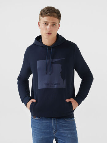 Regular fit cotton sweatshirt