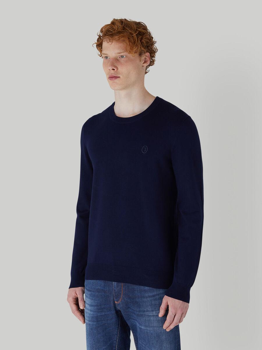 Slim-fit viscose-blend pullover