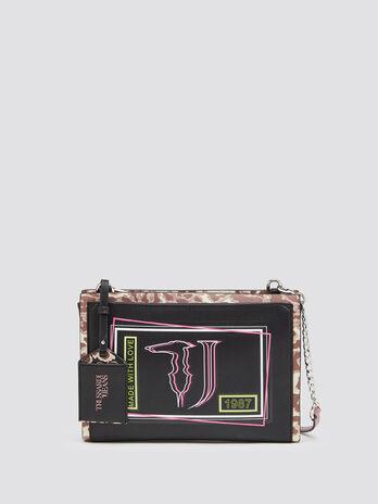 Liquirizia clutch bag with shoulder strap