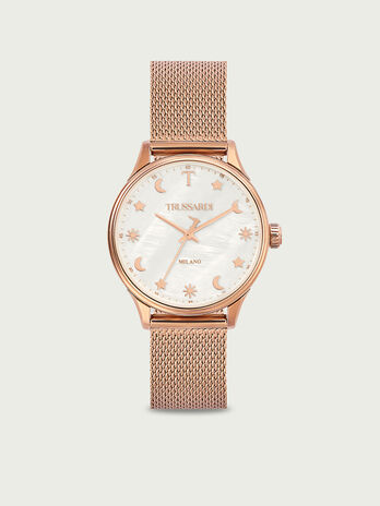 Montre a finition rose gold