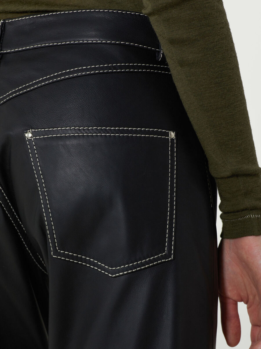 Trousers in nappa sport