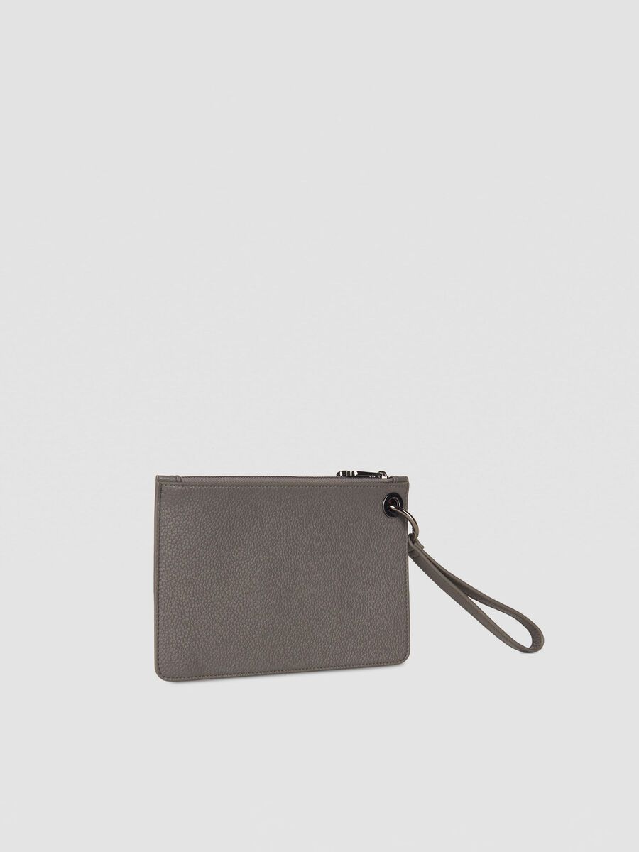 Harper clutch trio in hammered faux leather