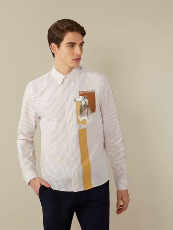 Hemd im Regular-Fit aus gestreifter Popeline