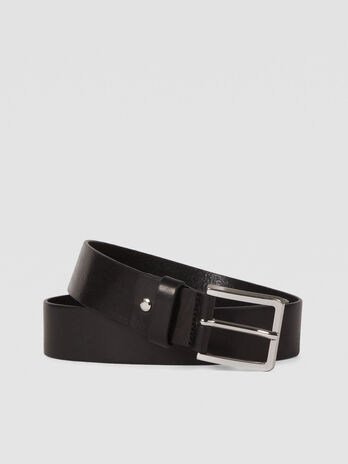 Leather Ticinese belt