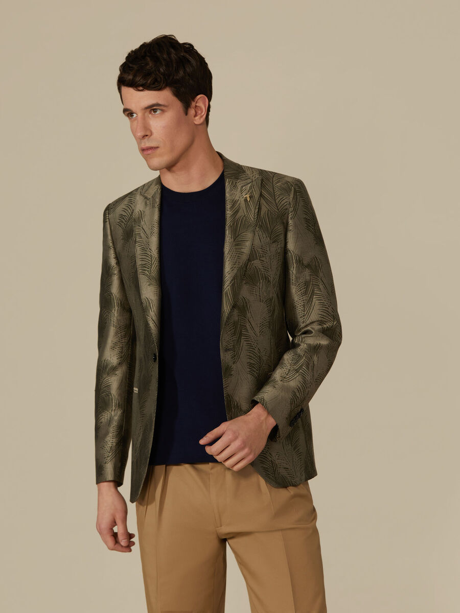 Cotton jacquard blazer