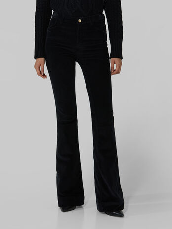 Stretchy corduroy New Bell trousers