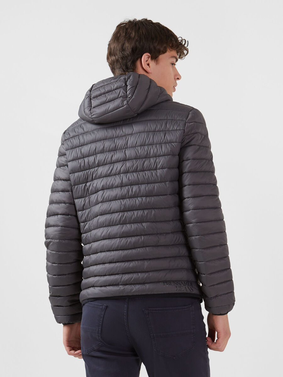 Regular fit light nylon down jacket