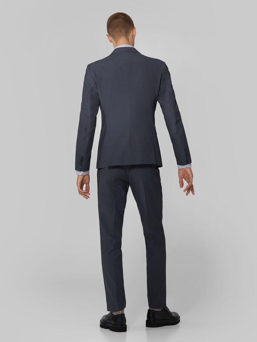 Completo uomo slim fit in tela di viscosa