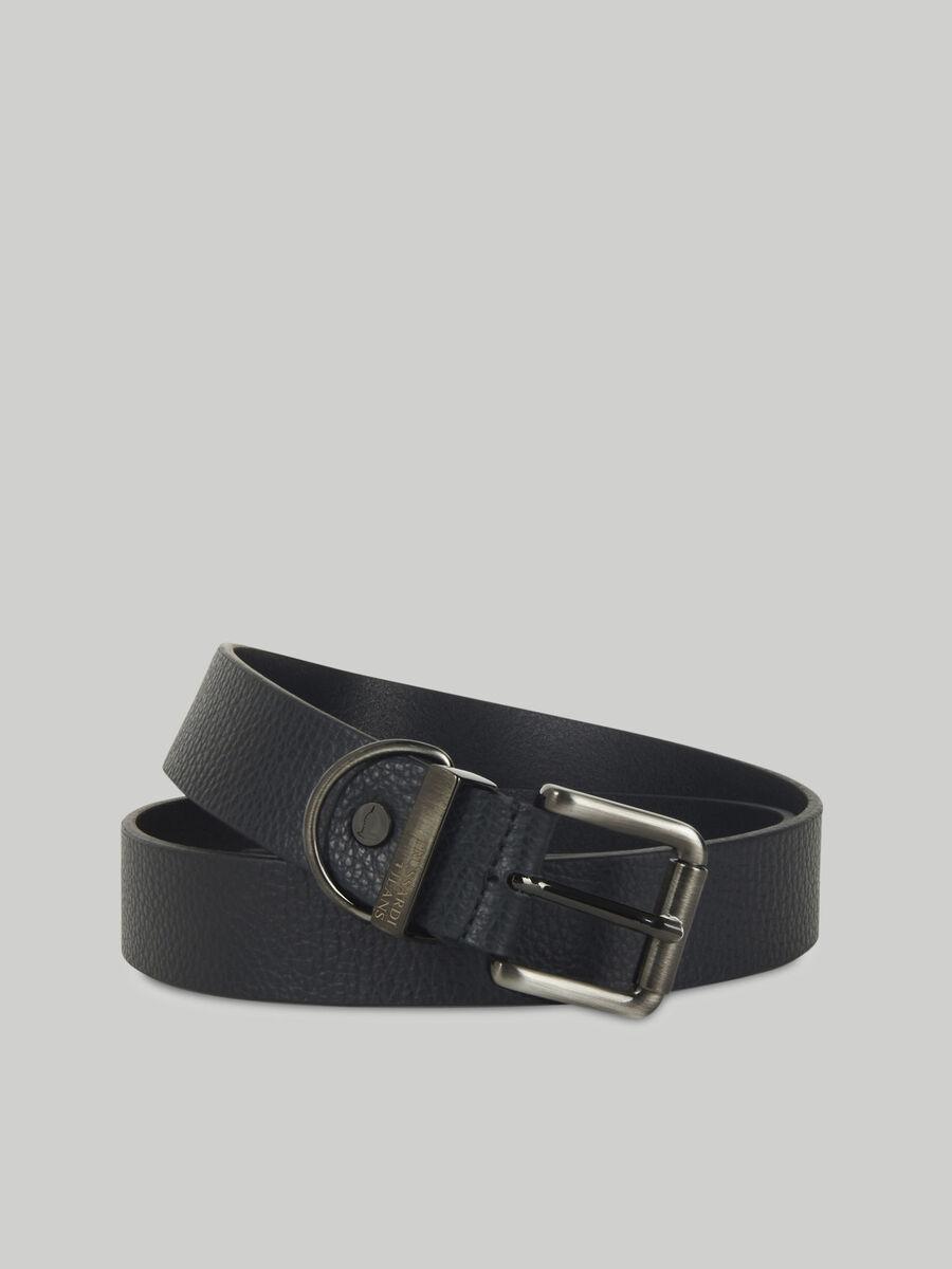 Hammered leather belt