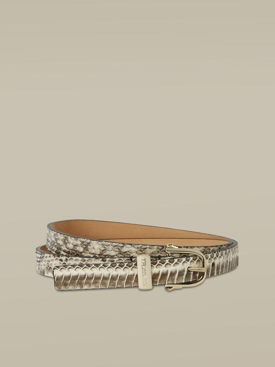 Thin Argo belt in elaphe leather