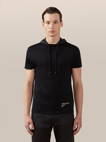 Regular fit jersey hoody T-shirt