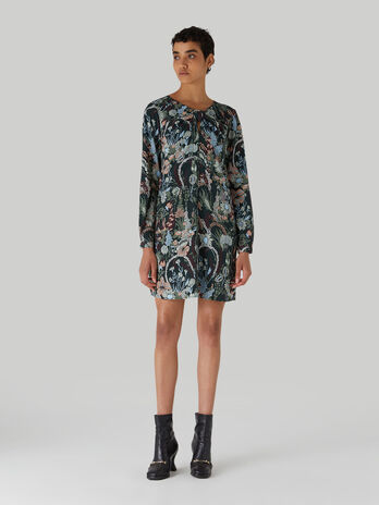 Crepe dress with floral print