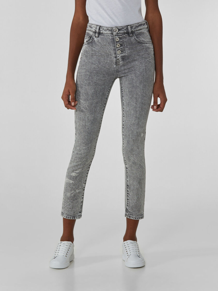 Sophie 208 jeans in soft grey denim