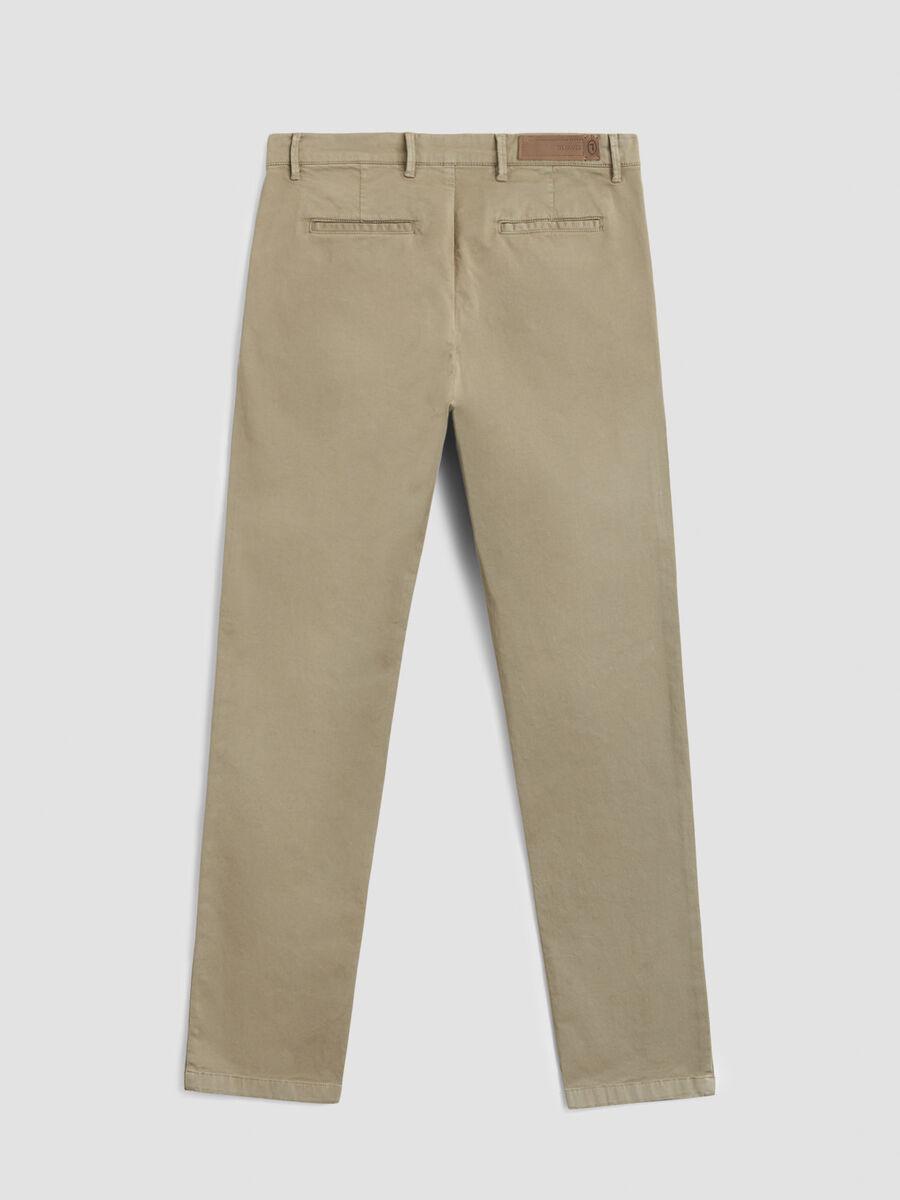 Hose im Seventies Fit aus Baumwollsatin