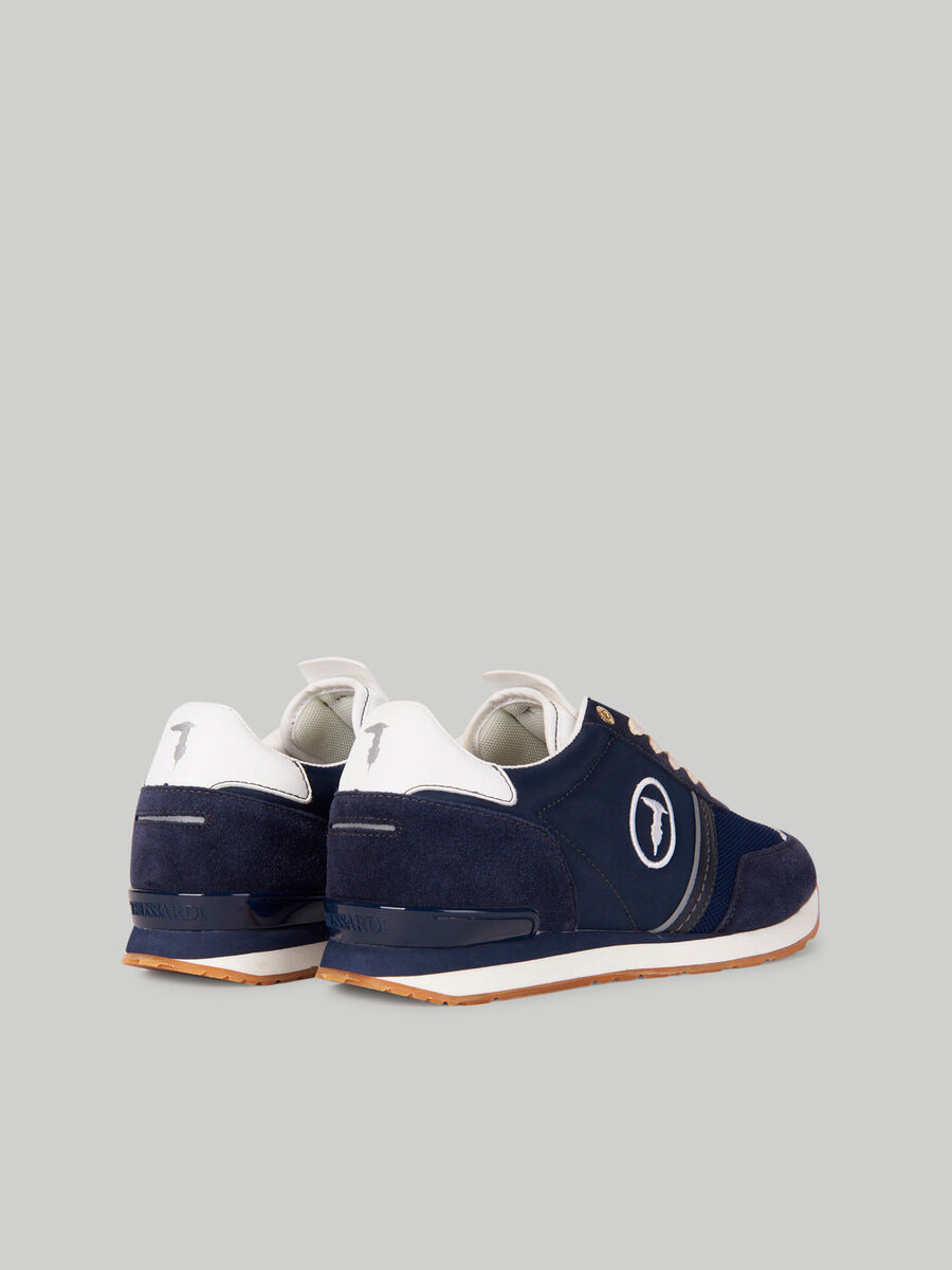 Suede and nylon Freddy sneakers