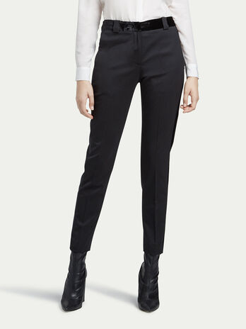 Stretch wool twill trousers