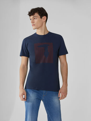 Regular-fit stretch cotton T-shirt