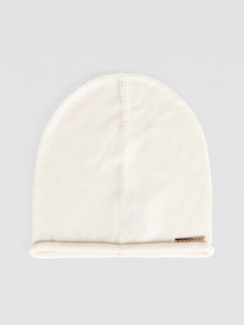 Solid colour cashmere blend hat