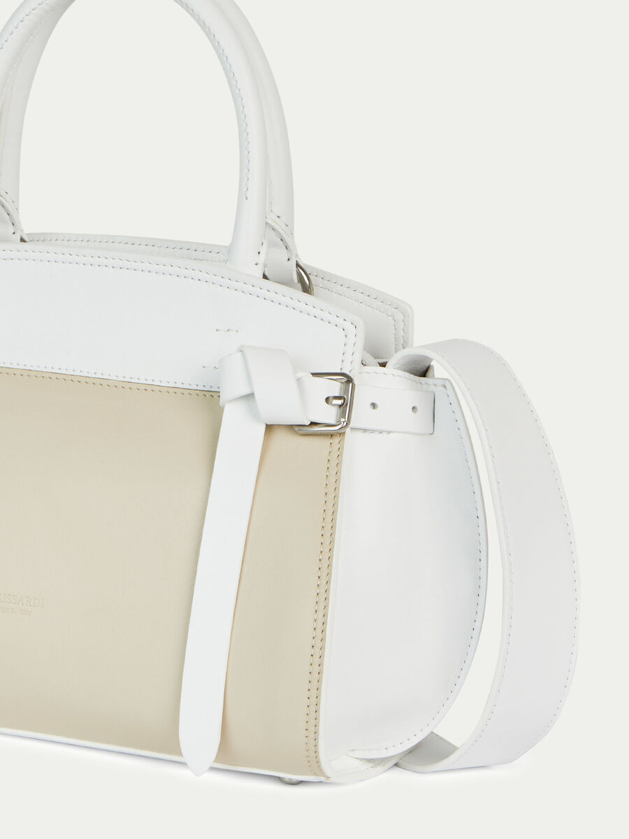 Borsa Gita medium in pelle colorblock a due tonalita